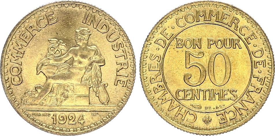 50 centimes 1924 france 50 centimes chambre de commerce for Chambre de commerce tuniso francaise